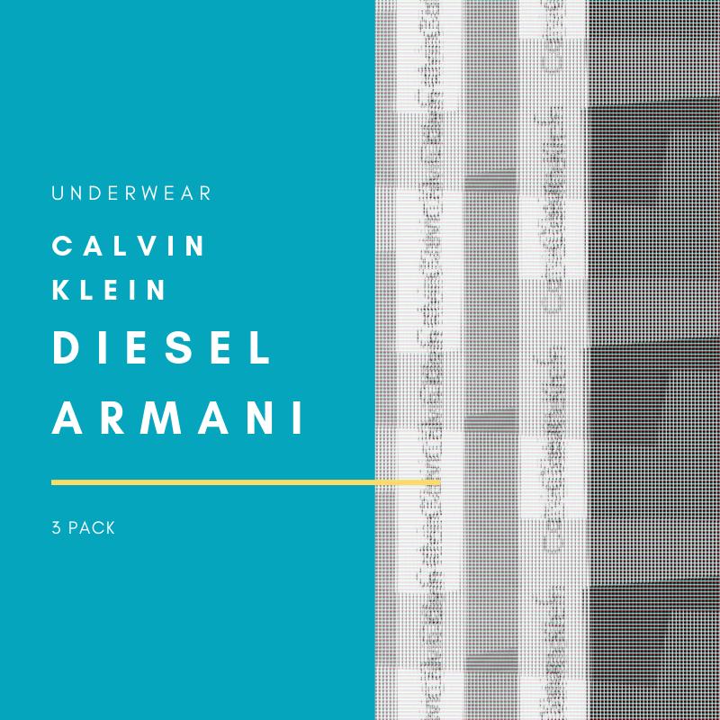 Boxer Calvin Klein, Diesel, Armani